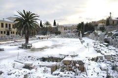 Atenas, Greece - a ágora e o Acropolis Fotografia de Stock Royalty Free