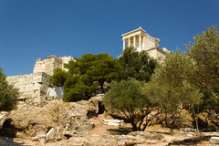 Atenas Greece Acropolis View Stock Photography