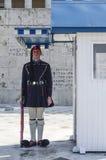Evzone (protetor cerimonial presidencial) de Greece Fotos de Stock Royalty Free