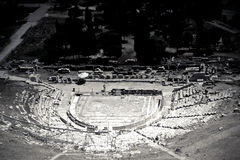 Atenas Griechenland Odeon Herodes Atico Stockbilder