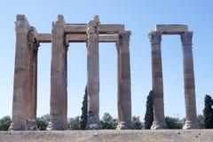 Atenas - templo de Zeus fotografía de archivo libre de regalías