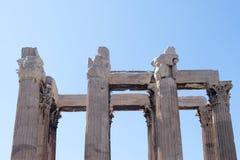 Atenas, templo de Zeus foto de archivo libre de regalías