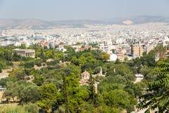 Atenas. Visión desde Areopagus Imagenes de archivo