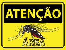 Atencao Mosquito Stock Image