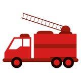 Atención de la urgencia del rescate del fuego del camión ilustración del vector