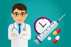 Atención sanitaria del doctor Imagen de archivo
