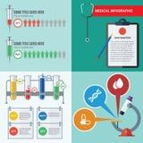Atención sanitaria infographic Imagen de archivo