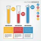 Atención sanitaria infographic Fotos de archivo libres de regalías