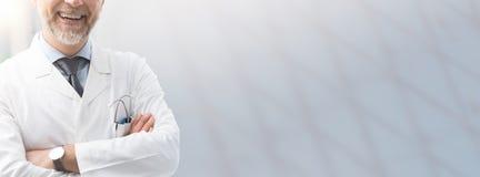 Atención sanitaria y bandera del seguro médico imagen de archivo libre de regalías