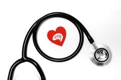 Atención sanitaria y concepto médico, cierre para arriba del estetoscopio fotos de archivo libres de regalías