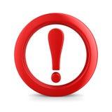 Atención. señal de tráfico en el fondo blanco Foto de archivo libre de regalías