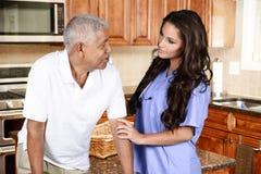 Atención sanitaria a domicilio Imagen de archivo libre de regalías