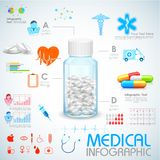 Atención sanitaria e Infographics médico Fotos de archivo libres de regalías