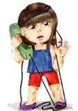 Atendimento de emergência a 911 ilustração stock