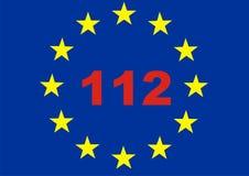 Atendimento de emergência 112 para o crise da UE Imagem de Stock Royalty Free