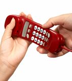 Atendimento de telefone Imagens de Stock Royalty Free