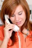 Atendimento de telefone da surpresa Imagens de Stock Royalty Free