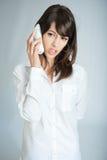 Atendimento de telefone irritante Fotografia de Stock