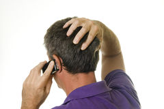 Atendimento de telefone ruim Imagens de Stock