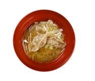 atendimento Gyoza da Não ofuscante-soma, alimento asiático da tradição Fotografia de Stock