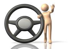 Atendimentos do excitador para a condução segura. ilustração royalty free