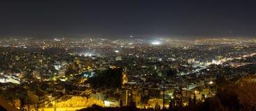 Atene alla notte Fotografie Stock Libere da Diritti
