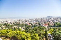 Atene. Città di vista da Areopagus Immagini Stock Libere da Diritti