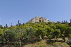 Atene, collina di Lycabettus Fotografia Stock