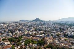 Atene. Collina di Lycabettus Fotografia Stock