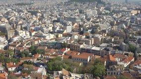 Atene con il monte Licabetto archivi video