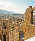 Atene dal Parthenon Fotografia Stock
