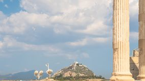 Atene dall'acropoli immagine stock