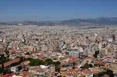 Atene dall'acropoli Fotografie Stock