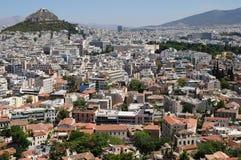 Atene dall'acropoli Fotografia Stock