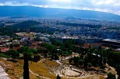 Atene dall'acropoli Immagini Stock Libere da Diritti