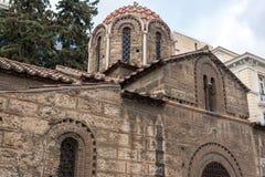 ATENE, GRECIA - 20 GENNAIO 2017: Chiesa di Panaghia Kapnikarea a Atene, Grecia immagini stock libere da diritti