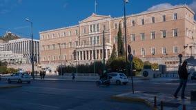 ATENE, GRECIA - 19 GENNAIO 2017: Il Parlamento greco a Atene, Attica Fotografia Stock Libera da Diritti