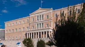 ATENE, GRECIA - 19 GENNAIO 2017: Il Parlamento greco a Atene, Attica Immagine Stock Libera da Diritti
