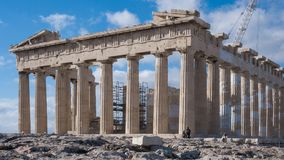 ATENE, GRECIA - 20 GENNAIO 2017: Il Partenone nell'acropoli di Atene Fotografia Stock