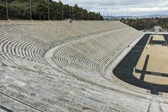 ATENE, GRECIA - 20 GENNAIO 2017: Panorama dello stadio panatenaico o del kallimarmaro a Atene Fotografia Stock