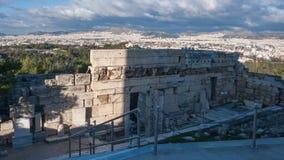 ATENE, GRECIA - 20 GENNAIO 2017: Propylaea - ingresso monumentale nell'acropoli di Atene Immagine Stock