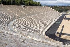 ATENE, GRECIA - 20 GENNAIO 2017: Stadio panatenaico o kallimarmaro a Atene, Grecia fotografia stock libera da diritti
