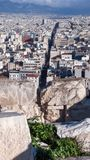 ATENE, GRECIA - 20 GENNAIO 2017: Vista panoramica dall'acropoli alla città di Atene, Fotografia Stock Libera da Diritti