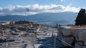 ATENE, GRECIA - 20 GENNAIO 2017: Vista panoramica dall'acropoli alla città di Atene, Immagine Stock