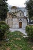 ATENE, GRECIA - 20 GENNAIO 2017: Vista stupefacente della chiesa di Agios Eleftherios a Atene, Fotografie Stock