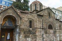ATENE, GRECIA - 20 GENNAIO 2017: Vista stupefacente della chiesa di Agios Eleftherios a Atene, Attica Immagini Stock Libere da Diritti