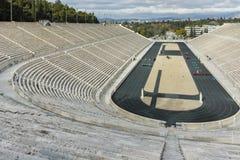 ATENE, GRECIA - 20 GENNAIO 2017: Vista stupefacente dello stadio panatenaico o del kallimarmaro a Atene Fotografie Stock Libere da Diritti
