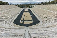ATENE, GRECIA - 20 GENNAIO 2017: Vista stupefacente dello stadio panatenaico o del kallimarmaro a Atene Fotografie Stock