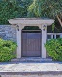 Atene Grecia, porta del giardino della casa Fotografia Stock