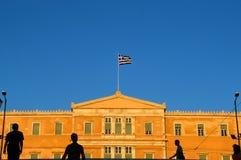 Atene, la costruzione del Parlamento fotografia stock libera da diritti